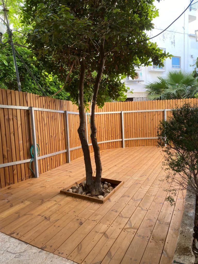 גדר עץ אורן טרמו