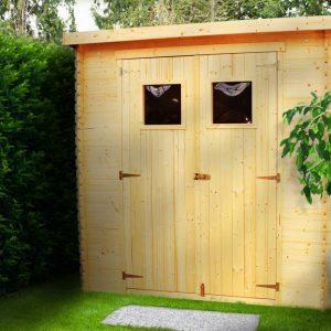 מחסן גינה עץ GARDEN TOP מעץ מלא 239X144 דגם M310