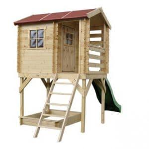 בית עץ לילדים – קיט בית עץ על עמודים Garden Top דגם M501D TIMBELA&KO