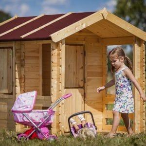 בית עץ לילדים מעץ מלא תוצרת  TIMBELA & KO דגם M501