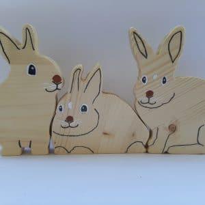 ארנבונים מעץ